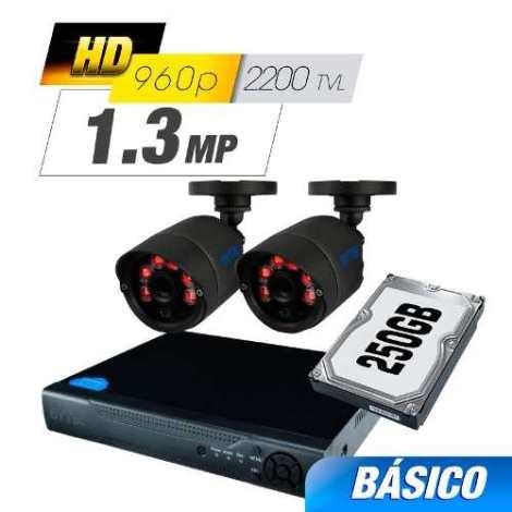 Kit Cctv 2 Cámaras Ahd 1.0 Mp 2200tvl Grabador Cable Utp Hdd en Web Electro