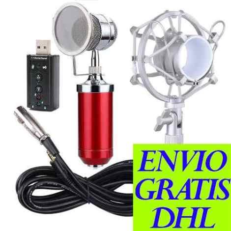 Kit Microfono Condensador Bm8000 + Tarjeta Usb Pc/laptop/mac en Web Electro