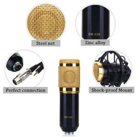 Micrófono Condensador Bm800 Y Filtro Anti Pop en Web Electro