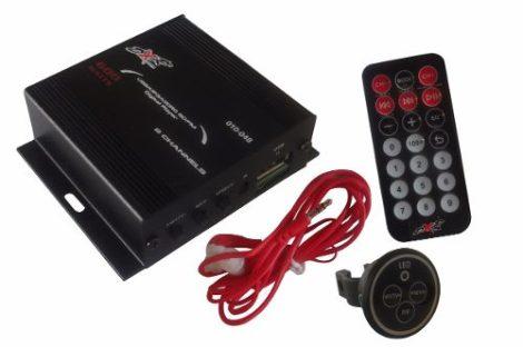 Mini Amplificador P/ Motocicleta Dxr 2 Canales 600w Radio Fm en Web Electro