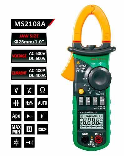 Multimetro Digital Autorango De Gancho Mastech Ms2108a Multi en Web Electro