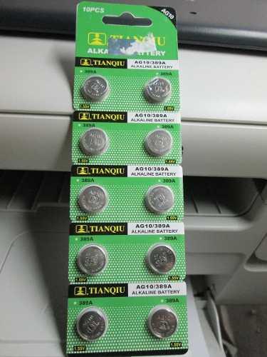 Paquete 10 Pilas Alcalinas Boton Ag10 / 389a / Lr1130 en Web Electro
