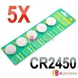 Paquete De 5 Pilas Bateria Cr2450