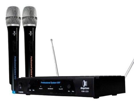 Par Microfonos Inalambricos Alta Calidad Cable Y Estuche Vhf en Web Electro