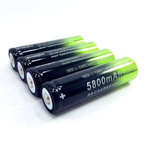 Pilas Baterías Recargables 18650 3.7 Volts 5800 Mah en Web Electro