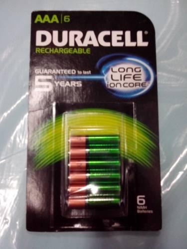 Pilas Recargables Duracell (6 Pilas) Tamaño *aa*  2500 Mah en Web Electro
