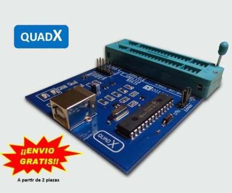 Programador Pic Dspic Eeprom Usb Quadx! en Web Electro