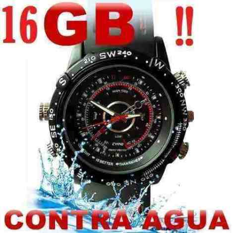 Reloj Con Cámara Oculta Dvr Resistente Al Agua 16 Gb Hd 720p en Web Electro