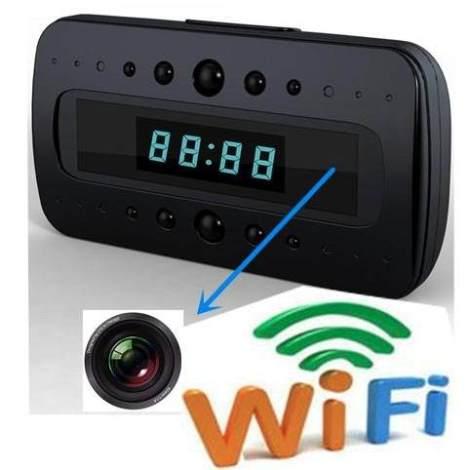 Reloj Espia Despertador  Wifi Y Vision Nocturna Fullhd P2p en Web Electro