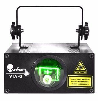 Super Laser Splg Via-g Dmx 50mw Verde Esmeralda Alien en Web Electro