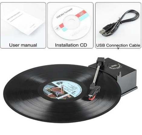 Tornamesa Reproduce Y Convierte Lp Vinyl Discos En Mp3 en Web Electro