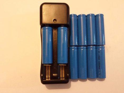 10 Baterías 14500 De 3.7 V Con Cargador Doble en Web Electro