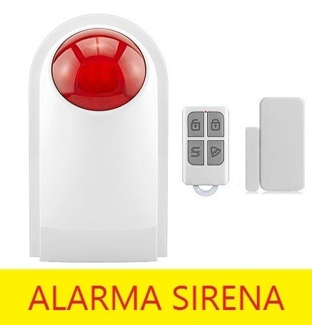 Alarma Sirena Estrobo Externa Flash 433hz Batería Respaldo en Web Electro