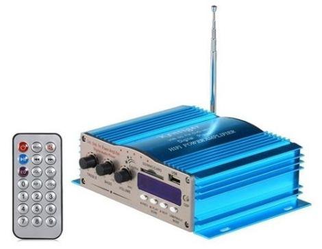 Amplificador 800w Auto Motocicleta Casa Usb Sd Radio Mp3 Pc en Web Electro
