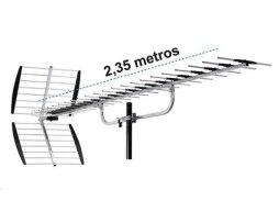 Antena Hdtv Aerea Exterior 40 Elementos Master 200 Km