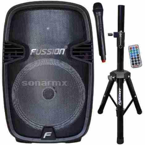 Bafle Bocina Amplificado 15 Recargable Bluetooth Y Microfono en Web Electro