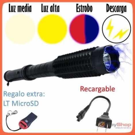 Baston Tolete Lamp Taser Paralizador Inmovilizador Stungun en Web Electro