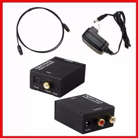 Convertidor De Audio Digital Toslink Óptico A Rca Y Coaxial