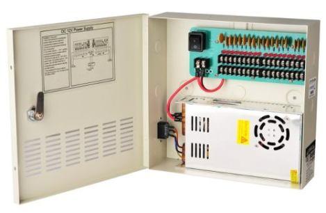 Fuente De Poder P 18 Camaras Central Regulada 20a 12v Cctv en Web Electro