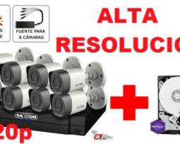 Kit 8 Camaras Disco 1tb Purple Alta Resolucion Cctv Hdcvi