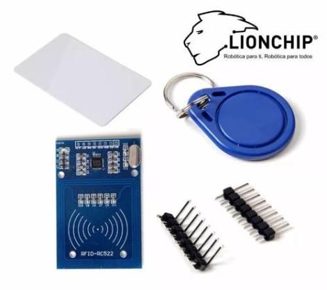 Kit Rfid Rc522 Kit Tarjeta Llavero Inalambrico Lionchip en Web Electro