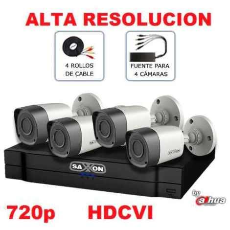 Kit Videovigilancia 4 Camaras Ir Dvr Cables X Internet Cctv