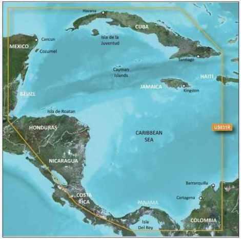Mapa Nautico Garmin Bluechart G2 Mexico Caribe Suroeste en Web Electro