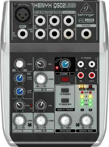 Mezcladora Behringer Xenyx Q502usb 5 Canales Meses S/interes en Web Electro