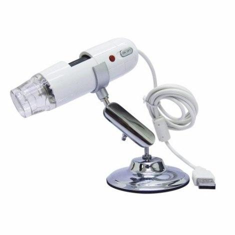 Microscopio Usb 2mp 200x Toma Fotos Con Luz Led Y Base en Web Electro