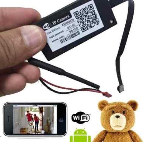 Minicamara Espia Wifi Hd Iphone Android Monitorea Y Graba en Web Electro