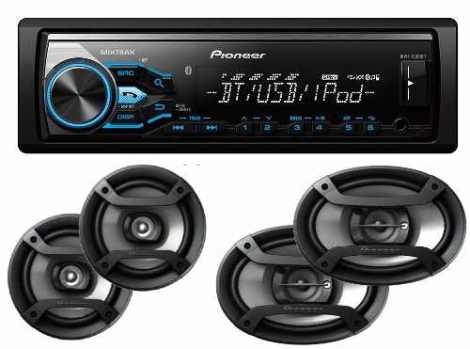 Paquete Autoestereo Pioneer Bluetooth X385bt Bocinas 6.5 6×9