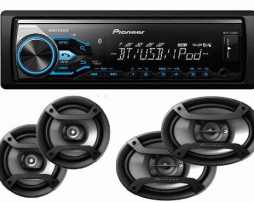 Paquete Autoestereo Pioneer Bluetooth X385bt Bocinas 6.5 6x9