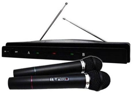 Par De Microfonos Inalambricos 50 M. Profesionales Frec. Vhf en Web Electro