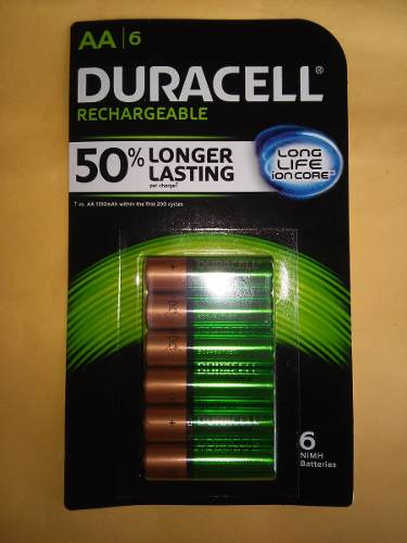 Pilas Recargables Duracell Tamaño Aa 2500 Mah Blister Con 6 en Web Electro