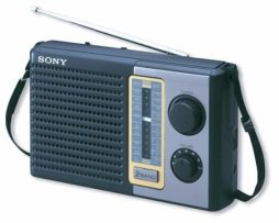 Radio Portatil Sony Am/fm Analogico Icf-f10 Bocina