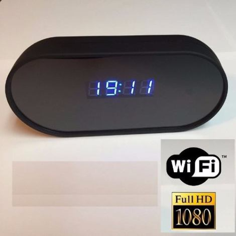 Reloj Espia Despertador Wifi Hasta 64gb Lente Sony Fullhd