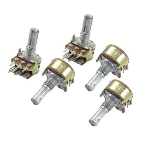 Set De 3 Potenciómetros 6 Pins Tandem Valores 10 20 50 100k en Web Electro