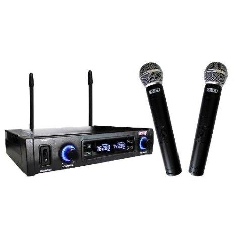 Sistema 2 Microfonos Inalambricos Uhf Pantalla Digital en Web Electro