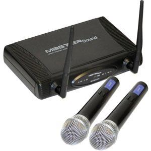 Sistema Profesional De 2 Microfonos Inalambricos Uhf en Web Electro