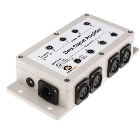Splitter Amplificador Dmx 8 Salidas Aisladas Para Luces @tl