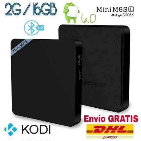 Tv Box Mini M8s Ii Android 6 2gb 16gb Bluetooth Kodi Netflix en Web Electro