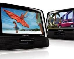 2 Cabeceros Dual 7 Con Dvd Portátil De Auto O Hogar Philips