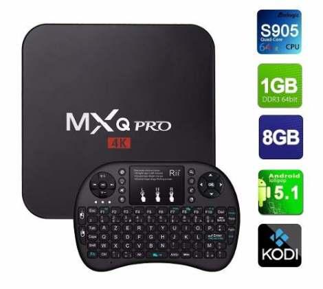 Android Tv Box Mqx Pro 4k 1gb Ram 8gb + Teclado Inalambrico en Web Electro