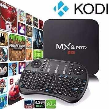 Android Tv Box Mxq Pro Android 5.1  Kodi + Teclado Iluminado