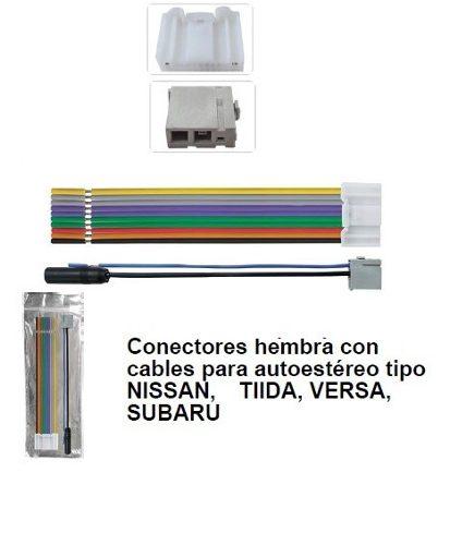 Arnés Dxr Autoestéreo De Agencia Subaru Nissan Tiida Versa en Web Electro