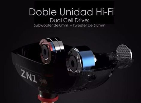 Audífonos Monitor Personal In Ear Kz Zn1 Doble Driver en Web Electro