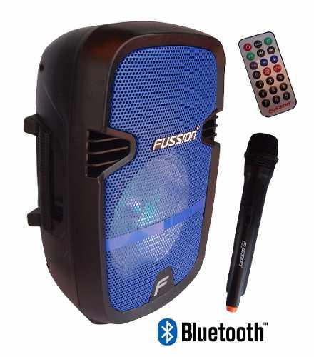 Bafle Amplificado Recargable 8 Pulgadas Fussion + Microfono
