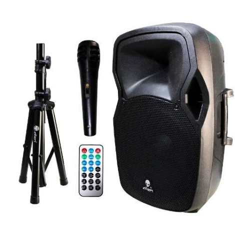 Bafle Amplificado15 Alien Usb Sd Bt Fm Tripie Microfono en Web Electro