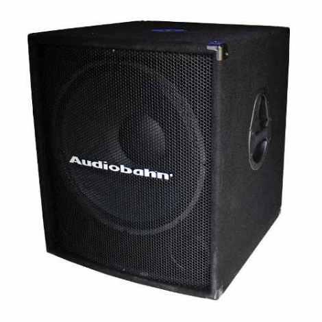 Bafle Subwoofer 18 Activo Amplificado Audiobahn en Web Electro