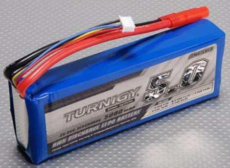 Bateria Lipo 5000mah 11.1v 3s 25c Turnigy Dji F450 F550 Dron